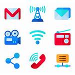Social Communication Icons Logos