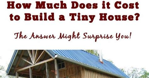 How Much Does It Cost To Build A Bar by How Much Does It Cost To Build A Tiny House More Tiny