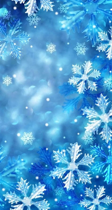 Wallpaper Snowflakes by Blue Snowflakes The Iphone Wallpapers