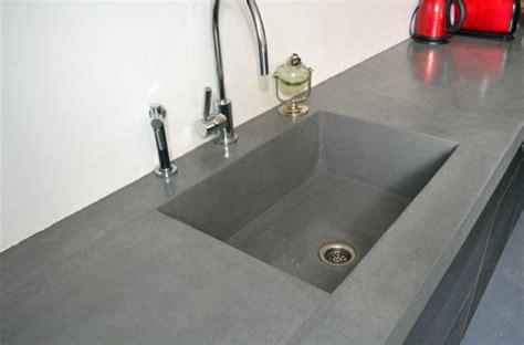 meuble cuisine sous evier le béton ciré dans la maison moderne