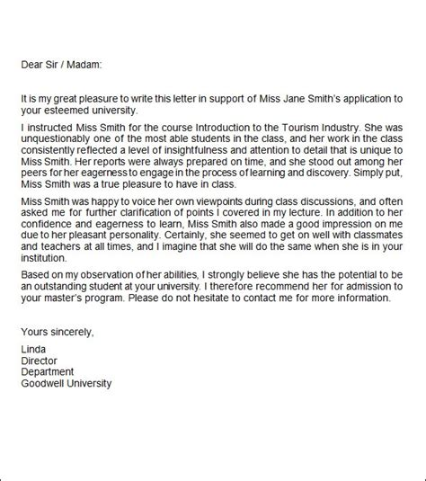 job recommendation letter templates  ms word  google docs apple pages