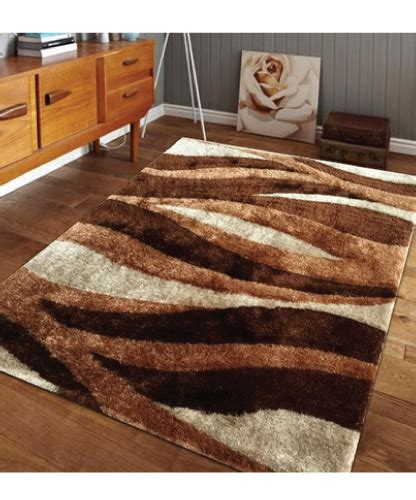 Brown Shag Area Rug by Lo La Shag Brown Beige Area Rug