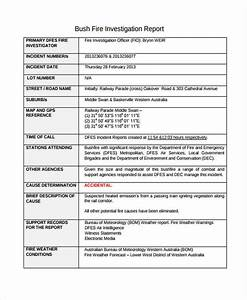 fire incident report example of incident report With fire investigation template