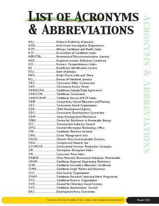acronyms  abbreviations web  dig jamaica issuu