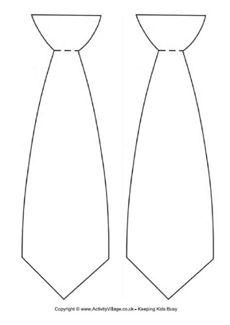 Tie Template Tie Outline Clipart