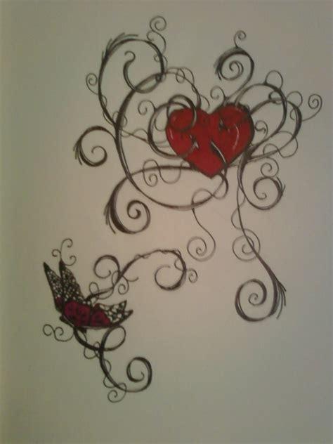 butterfly heart tattoo design  allanavosk  deviantart