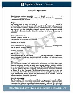 prenuptial agreement sample for more information on With antenuptial contract template