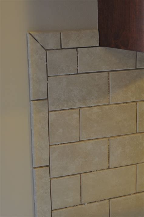 bed bath inspiring tile backplash with bullnose edge and