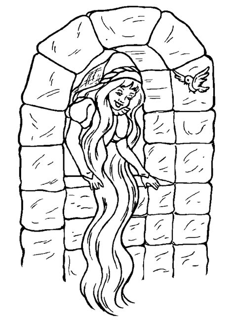 Kleurplaat Rapunzol by Kleurplaten Rapunzel