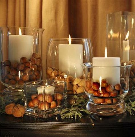 Decorating Ideas Glass Candle Holders by Thanksgiving Decorating Ideas