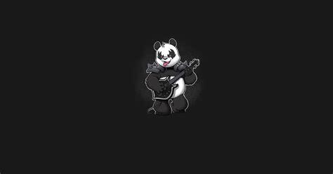 T Shirt Panda Black Metal Putih heavy metal panda panda t shirt teepublic