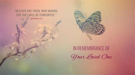 church powerpoint template funeral butterfly
