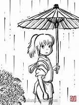 Spirited Away Coloring Ghibli Chihiro Pages Studio Anime Miyazaki Totoro Colouring Hayao Deviantart Sumi Haku Drawing Manga Princess Things Adult sketch template