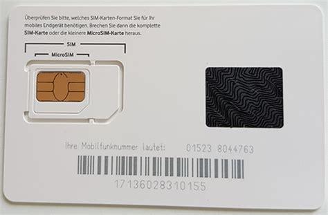 sim karte begriff formate technik lebensdauer groessen