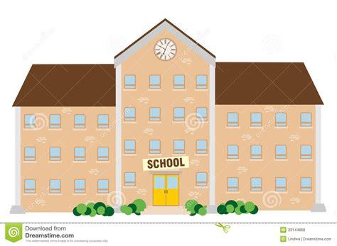 School Building Stock Vector. Illustration Of Door