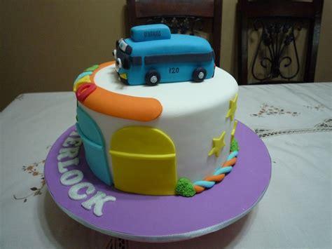 cake tayo bus fondant birthday cakes ordered gg biz wedding buttercream gumpaste frosting deco covered