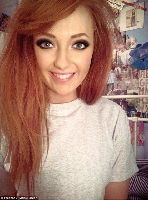 Maisie Beech Who Posted Selfie With Make Up On Half Her