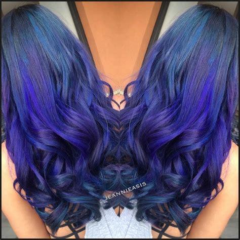 Galactic Purpleblue Ombre Hair Colors Ideas
