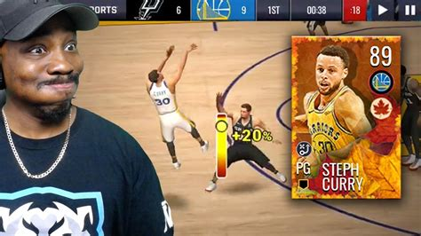 nba live scores mobile 89 ovr harvest master curry shooting fading 3 pointers