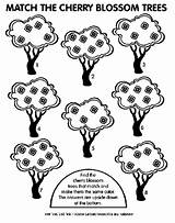 Cherry Tree Coloring Match Blossom Crayola sketch template