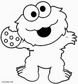 Cookie Monster Coloring Pages Printable Cool2bkids sketch template