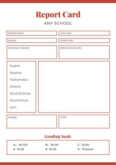 customize  report card templates  canva