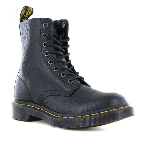 dr martens  pascal emboss womens leather  eyelet