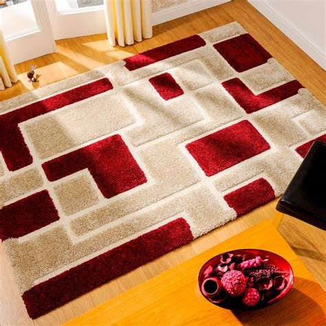 Venice Imperial Rugs In Red And Beige  Free Uk Delivery