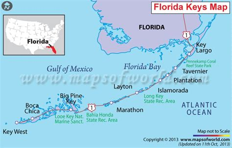 Florida Keys Map With Mile Markers.Keys Mile Markers Map