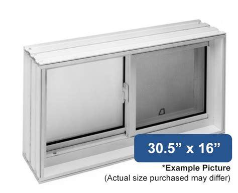 """305"""" X 16"""" Vinyl Slider Basement Window  Buy Online"""