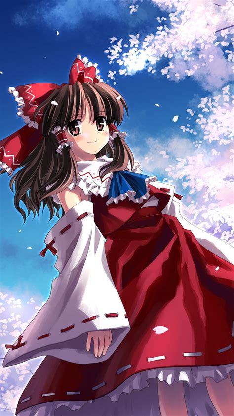 wallpaper anime hakurei reimu girl beauty  art