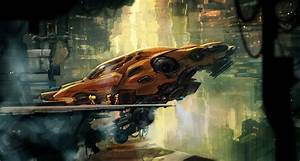 concept ships: Concept spaceship art by Maxim Revin