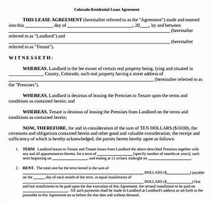 printable lease agreement 8documents download for free With colorado lease agreement word document
