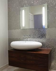 Funky wall covering guest bathroom biz ideas