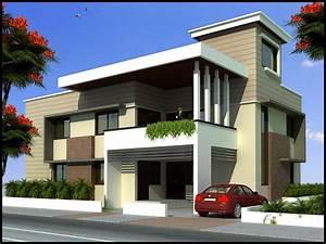 3d, Front, Elevation, House, Design, Andhra, Pradesh