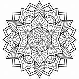 Coloring Adults Printable Abstract Getcolorings sketch template