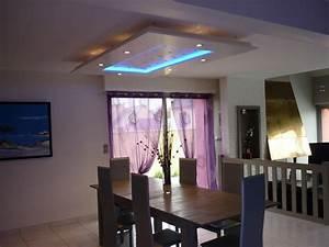 Deco Pour Salon : faux plafond salon moderne ~ Premium-room.com Idées de Décoration