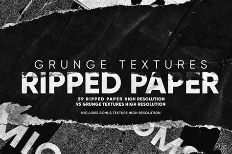 Grunge Textures Ripped Paper Pre Designed Photoshop