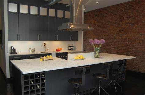 kitchen island wine rack contemporary kitchen
