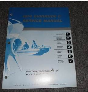 8  1974 Evinrude 4 Hp Lightwin Yachtwin Service Manual