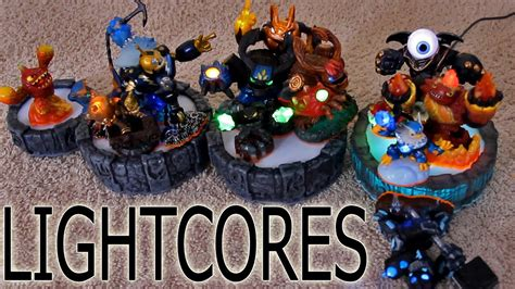 skylanders giants  portal lightcore lineup trick youtube