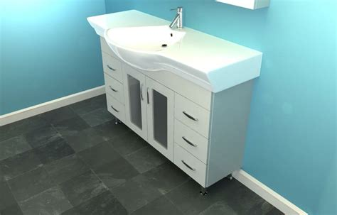 shallow sinks in kitchen narrow bathroom vanities eurofit 47 quot white narrow bathroom 5173