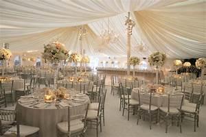 splendid decoration ideas of tent wedding weddceremonycom With white and gold wedding decor