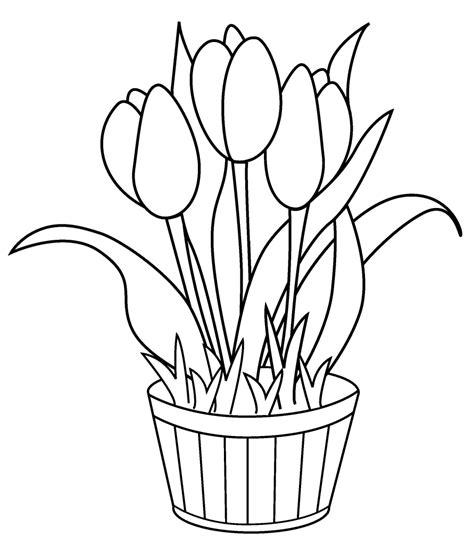 sketsa gambar bunga sederhana garlerisket