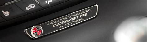 personalized plate national corvette museum