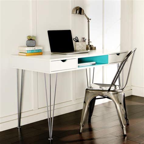 walker edison furniture company aqua blue desk with