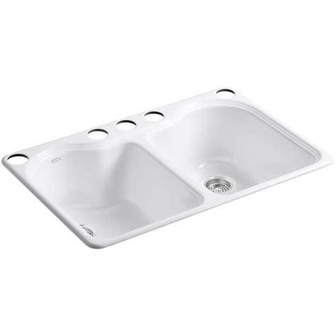 kohler kitchen sinks undermount kohler hartland undermount cast iron 33 in 5 6697