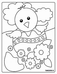 Sweet And Sunny Spring U0026 Easter Coloring Pages
