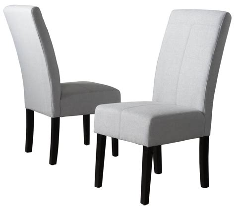 dining chair in light gray set of 2 express home decor