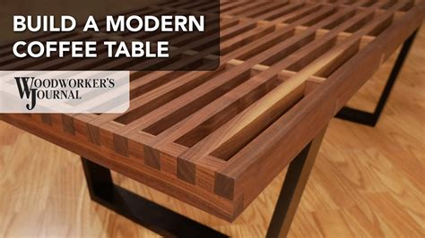 build  modern coffee table  cross lap joints